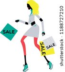 walking elegant modern woman... | Shutterstock .eps vector #1188727210