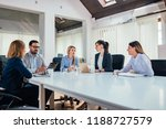 business meeting at modern... | Shutterstock . vector #1188727579