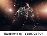 muscular fitness man moving... | Shutterstock . vector #1188729709