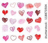 Heart. Set Of Design Elements....