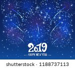 lettering happy new year 2019... | Shutterstock .eps vector #1188737113