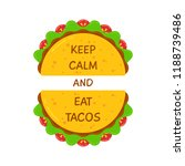 delicious tacos and... | Shutterstock .eps vector #1188739486