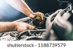 hand mechanic in repairing car... | Shutterstock . vector #1188739579