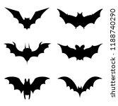 halloween icons set of bats in... | Shutterstock .eps vector #1188740290