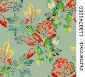 watercolor seamless pattern of... | Shutterstock . vector #1188741280