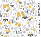 gold and grey flowers seamless...   Shutterstock .eps vector #1188744856