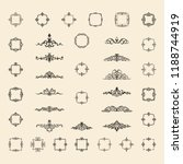 vintage decor elements and... | Shutterstock .eps vector #1188744919