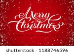 merry christmas and happy new... | Shutterstock .eps vector #1188746596