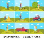 beekeeper and farming man with... | Shutterstock .eps vector #1188747256