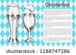 oktoberfest poster pair of beer ... | Shutterstock .eps vector #1188747286