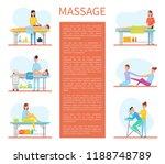 medical massage room cartoon... | Shutterstock .eps vector #1188748789