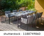 dining table with chairs and... | Shutterstock . vector #1188749860