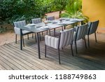 dining table with chairs and... | Shutterstock . vector #1188749863