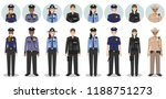 police people concept. set of... | Shutterstock .eps vector #1188751273