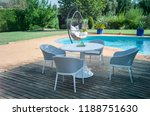 dining table with chairs and... | Shutterstock . vector #1188751630