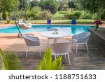 dining table with chairs and... | Shutterstock . vector #1188751633