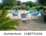 dining table with chairs and... | Shutterstock . vector #1188751636