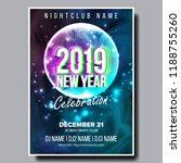 2019 party flyer poster vector. ... | Shutterstock .eps vector #1188755260