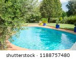 beautiful swimming pool in a... | Shutterstock . vector #1188757480