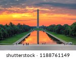 washington monument at sunrise... | Shutterstock . vector #1188761149