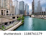 chicago skyline. chicago... | Shutterstock . vector #1188761179