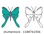 Outline Butterfly  Coloring Book