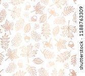 copper foil autumn leaves... | Shutterstock .eps vector #1188763309