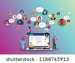 social network web site surfing ... | Shutterstock .eps vector #1188765913