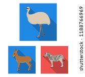 different animals flat icons in ... | Shutterstock .eps vector #1188766969