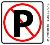no parking traffic sign | Shutterstock .eps vector #1188767143