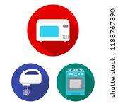 types of household appliances... | Shutterstock .eps vector #1188767890