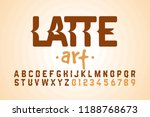 latte art font design  milk... | Shutterstock .eps vector #1188768673