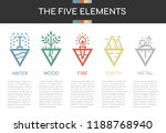 the five elements of nature...   Shutterstock .eps vector #1188768940