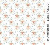 hot coffee seamless pattern... | Shutterstock .eps vector #1188773170