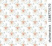 hot coffee seamless pattern... | Shutterstock .eps vector #1188773170