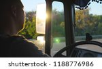 man driving truck and carefully ... | Shutterstock . vector #1188776986