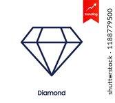 diamond line icon  outline... | Shutterstock .eps vector #1188779500
