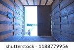 driver opens the door of... | Shutterstock . vector #1188779956