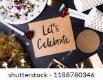 let s celebrate  handwriting ... | Shutterstock . vector #1188780346