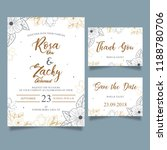 floral wedding invitation | Shutterstock .eps vector #1188780706