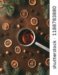 top view of mulled wine with... | Shutterstock . vector #1188783880