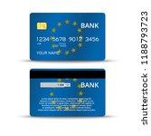 credit or debet bank card... | Shutterstock .eps vector #1188793723