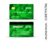credit or debet bank card design | Shutterstock .eps vector #1188793786