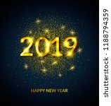 happy new year 2019 greeting... | Shutterstock . vector #1188794359