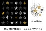 collection of snowflakes  stars ... | Shutterstock .eps vector #1188794443