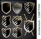 gold and gray shield set | Shutterstock .eps vector #118879540