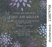 wedding card or invitation with ... | Shutterstock .eps vector #118879708