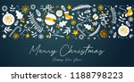 merry christmas banner golden... | Shutterstock .eps vector #1188798223