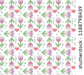 flower seamless pattern with... | Shutterstock .eps vector #1188798439