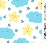 cute sky pattern. seamless... | Shutterstock .eps vector #1188798853